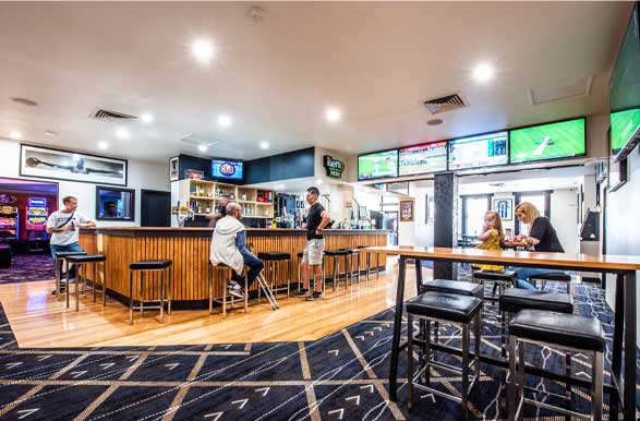 Sports bar with live sport